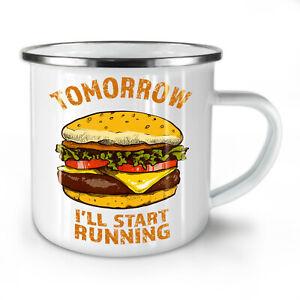 Workout Gym Funny NEW Enamel Tea Mug 10 oz | Wellcoda