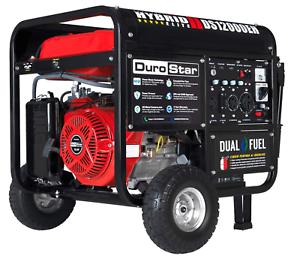 DUAL FUEL Portable Generator DuroStar DS12000EH 12,000-Watt 18-Hp NEW
