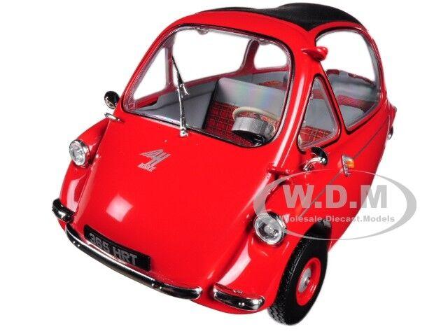 HEINKEL TROJAN LHD BUBBLE CAR RED 1 18 DIECAST MODEL CAR BY OXFORD 18HE002