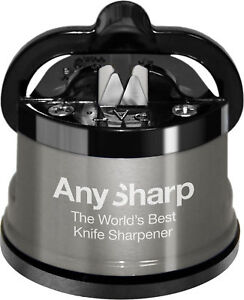 AnySharp-Knife-Sharpener-Pro-Metal-Pull-Through-Straight-Serrated-Genuine-New