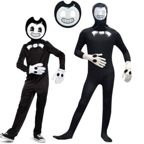 Bendy Kostüm Jungen Cosplay Kleidung Komplettset für Halloween Karneval Party