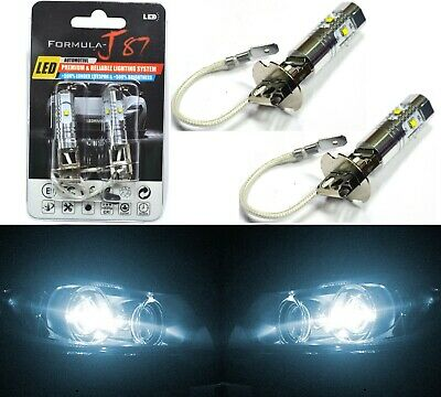LED Kit S 100W 9004 HB1 6000K White Two Bulbs Headlight Plug Play Replacement EO