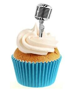 Edible Microphone Cake Topper