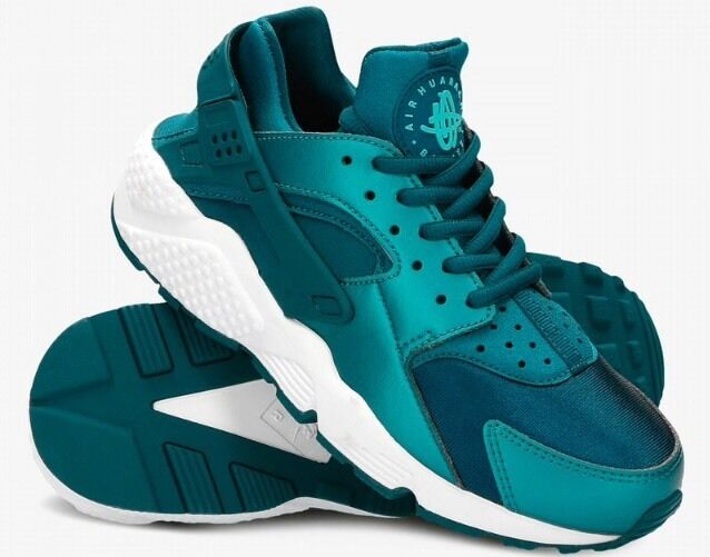 Nike Huarache Run Dark Sea Midnite Turq Womens Running Shoes sz 6 Fits 4.5Y NEW