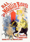 """Vintage French Poster Art CANVAS PRINT Moulin Rouge by Jules Cheret 16""""X12"""""""