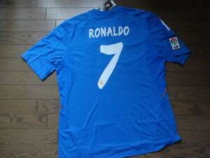 the best attitude ed45f 66c0e Details about Real Madrid #7 Cristiano Ronaldo 100% Original Jersey Shirt  2013/14 XL BNWT Rare