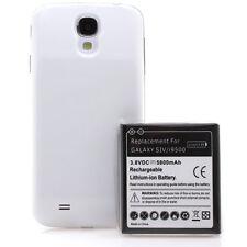 Samsung Galaxy S4 i9500 i9505 Power Akku Batterie 5800mAh Bumper Cover weiß