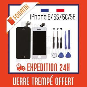 VITRE-TACTILE-IPHONE-5-5S-5C-SE-BLANC-NOIR-ECRAN-LCD-SUR-CHASSIS-OUTILS