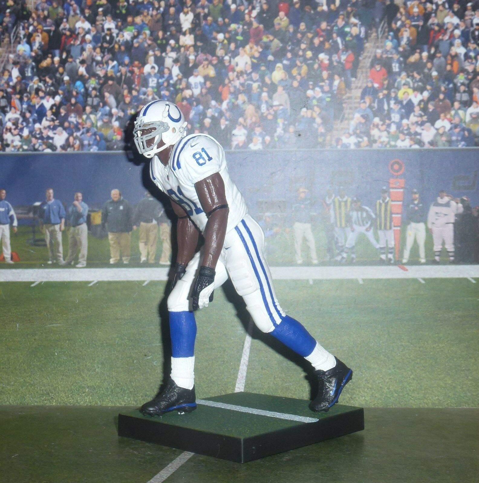 Personnalisé un Johnson  80 WR Ind Colts McFarlane Figure