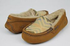 8353efba47c UGG Ansley Embroidery Lined Woman Moccasin SLIPPER Chestnut Size 6 ...