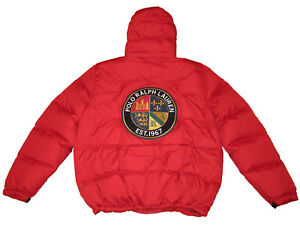 Polo-Ralph-Lauren-Red-3XB-Crest-Patch-Down-Parka-Winter-Coat-Big-Tall-Jacket-3XL