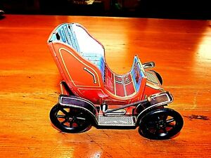 Tin Litho Lever Action Antique Toy Car