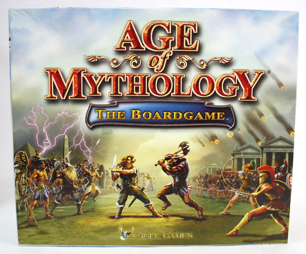 RARE 2003 AGE OF MYTHOLOGY THE BOARD GAME MICROSOFT +GREEK MANUAL NEW INCOMPLETE