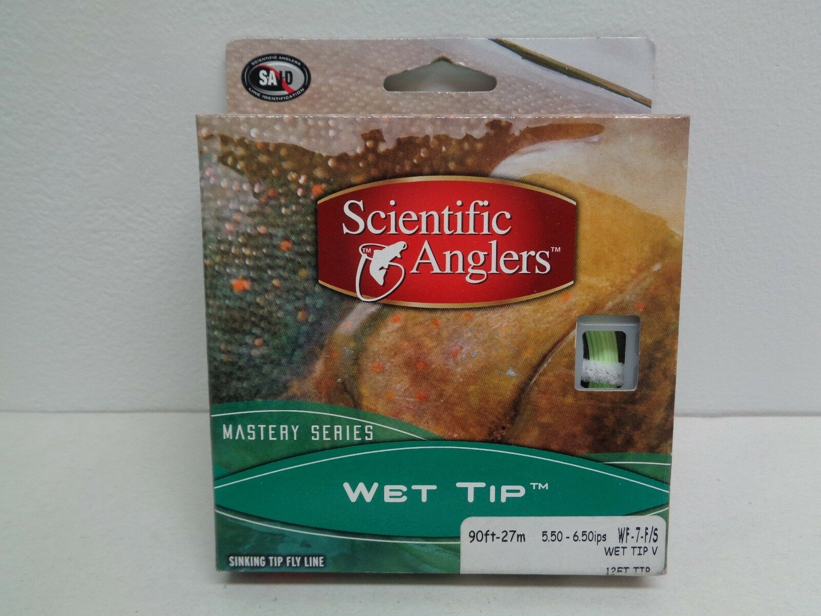 Scientific Anglers 90ft 27m WF-7-F S MASTERY SERIES WET TIP Green New Fly Line