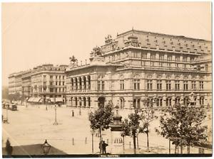 Autriche-Osterreich-Vienne-Wien-Opernring-Opernhaus-Vintage-albumen-print