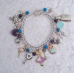 Alice in Wonderland Handmade Charm Bracelet