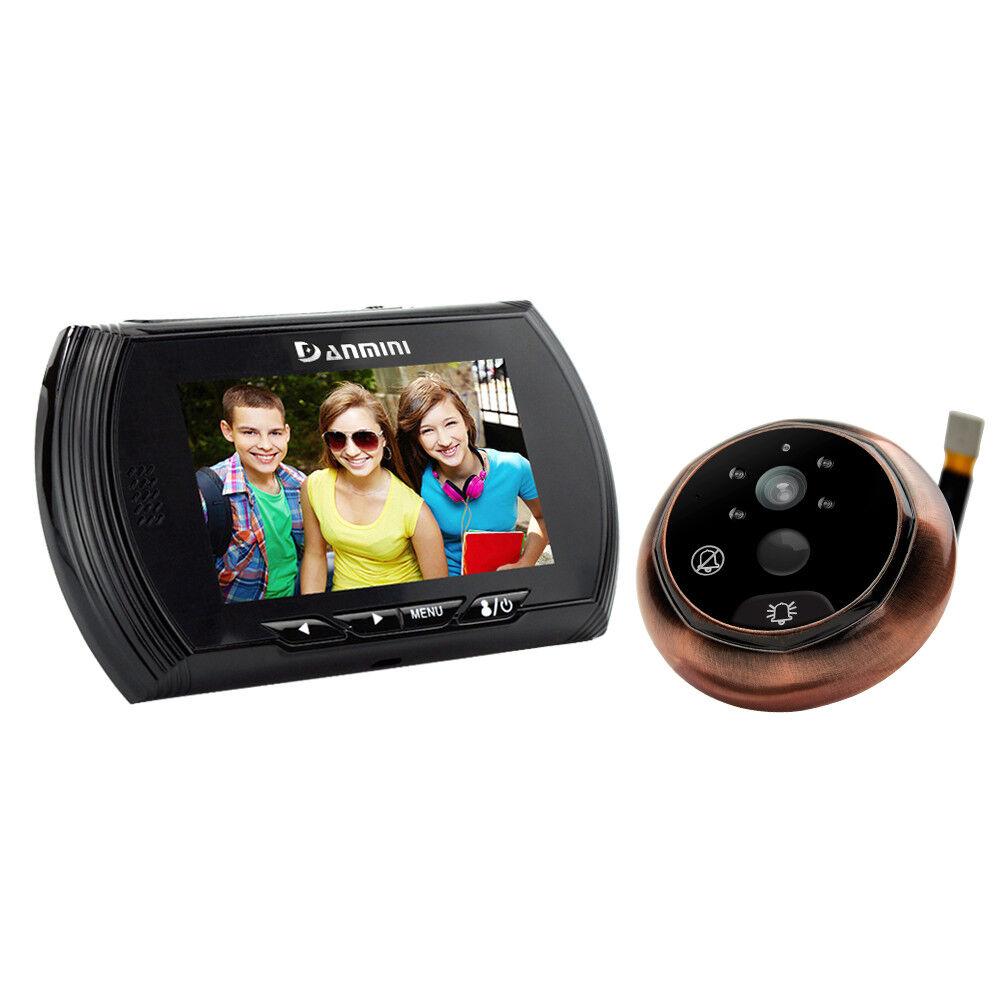 4.3  LCD numérique judas Viewer 160° PIR porte des yeux Sonnette Peephole Viewer
