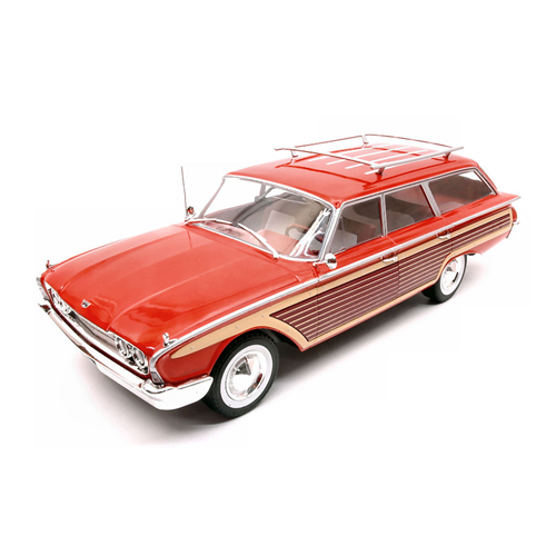 FORD COUNTRY SQUIRE 1960 WOODEN/rosso 1:18 ModelCarGroup Auto Stradali Die Cast