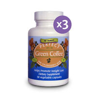 3 Pack- Perfect Green Coffee 100% Pure Green Coffee Bean Extract