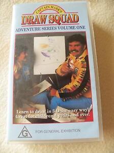Captain-Marks-Draw-Squad-Volume-1-PAL-VHS-Video-1989-Rare