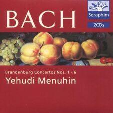 Bach: Brandenburg Concertos Nos. 1-6 (CD, May-1995, 2 Discs, Seraphim UK)