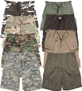 Herren-Shorts-US-BDU-BW-Cargo-Ranger-Tarn-Camo-MIL-TEC-kurze-Hose-Bermuda-Army