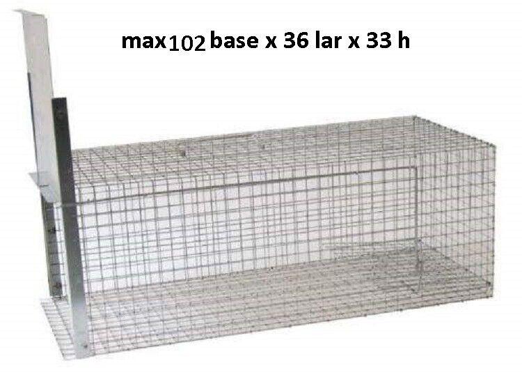 Gabbia trappola max cm  102 x 36 x 33