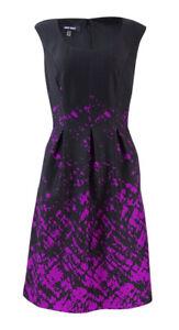 Nine-West-Women-039-s-Ink-Splatter-Printed-Ponte-Dress-4-Gypsy-Combo