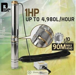 83L-min-Protege-Submersible-1HP-Deep-Well-Bore-Water-Pump-Water-Depth-of-88m