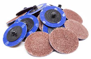 """200-2/"""" Roloc Zirconia Quick Change Sanding Disc 60 Grit and Mandrel Disc Holder"""