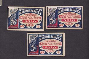 3 Anciennes étiquettes Allumettes Tchécoslovaquie Bn13953 Femme Mwhire6x-08000711-317035039