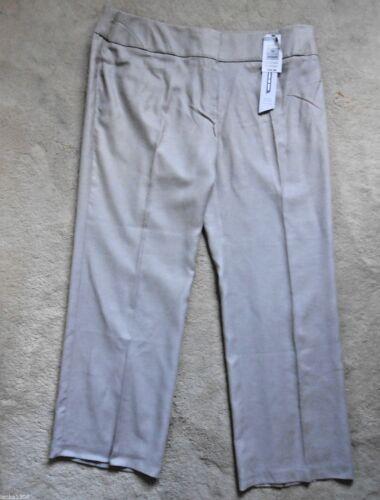 NEW sizes 8 or 20 Medium-£22.50 M/&S Linen White or Beige Straight Leg Trouser