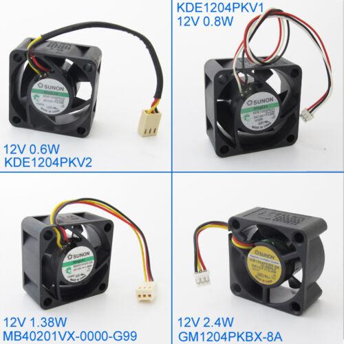 6pcs SUNON DC Cooling Fan 40x40x20mm 4020 12V 3pin 0.6W 0.8W 1.38W 2.4W Optional