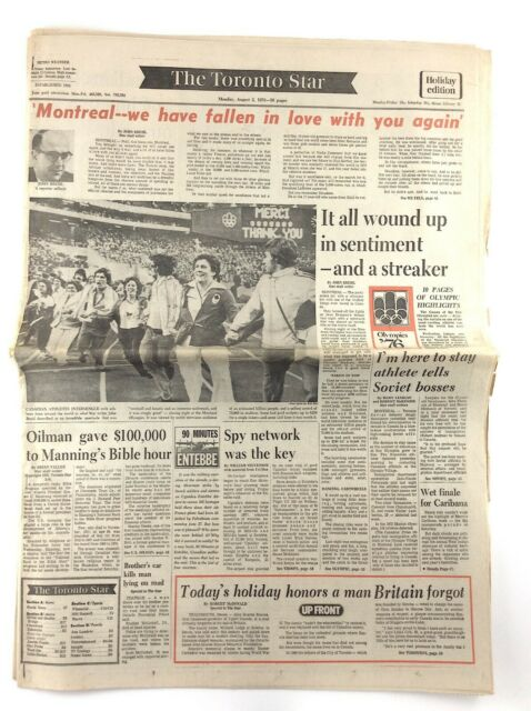Vintage August 2 1976 Toronto Star Newspaper Sections ...