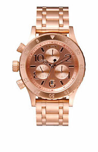 Nixon-38-20-Chrono-Rose-Gold-Quartz-Analog-Women-039-s-Watch-A404-1044