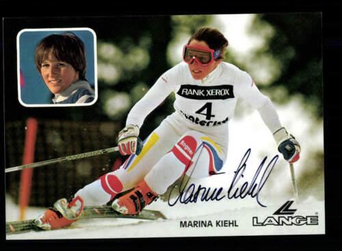 Marina Kiehl Autogrammkarte Original Signiert Skialpin A 200951