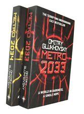 Dmitry Glukhovsky Metro 2033 + Metro 2034 2 Books Science Fiction Dystopian New