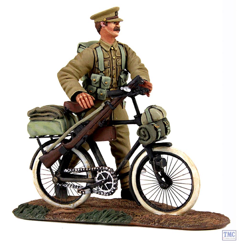 B23084 W.Britain 1914 British Infantry Pushing Pushing Pushing Bicycle 2 Piece Set World War I 3d5