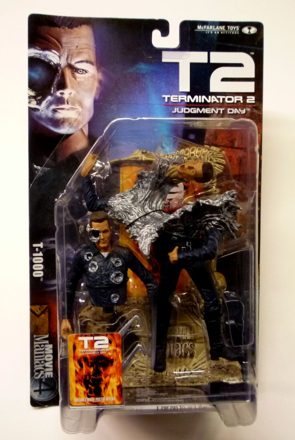 McFarlane Toys T-1000 Terminator Movie Maniacs  Series 4  Action Figure New 2001