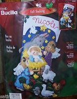 Bucilla baby Jesus Felt Christmas Stocking Kit Nativity Manger Sterilized84584