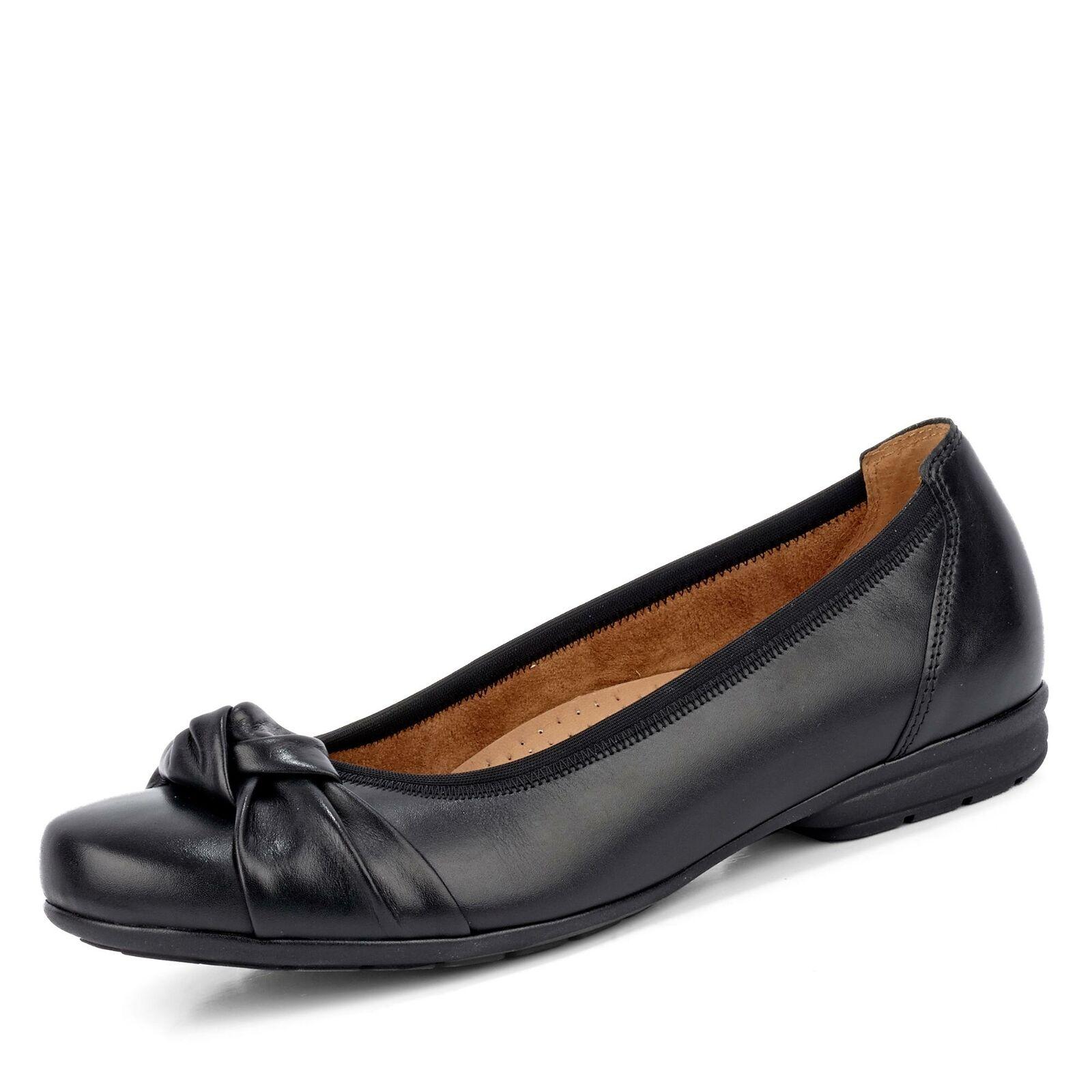 Gabor Damen Schwarz Schuhe Komfort Ballerina Ballerinas
