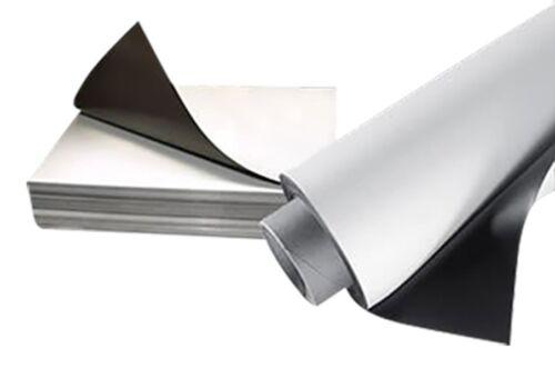 Eisenfolie Ferrofolie weiß matt 0,6mm x 31cm x  50cm