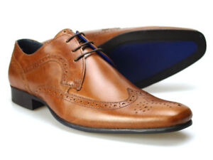 Red Tape Louth Navy Leather Mens Brogue Formal Shoes Free UK P/&P RRP £45!