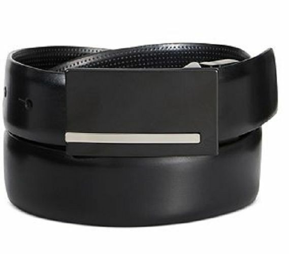 Alfani Mens Slim Buckle Dress Belt Black 42