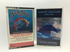 MUSIC-STEVE-MILLER-BAND-Greatest-Hits-1974-78-amp-Wide-River-Cassettes-Tested
