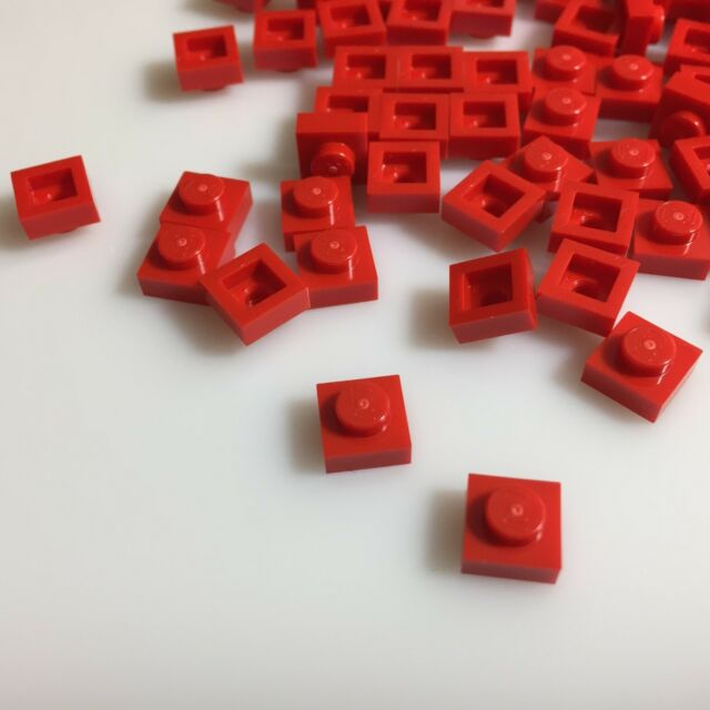 LEGO 3024 RED Square 1x1 Pin Plate 50 Or 100 Pieces