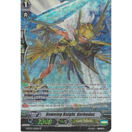 Cardfight Vanguard TCG G-BT07//S15EN SP Special Rare Gorboduc Dawning Knight