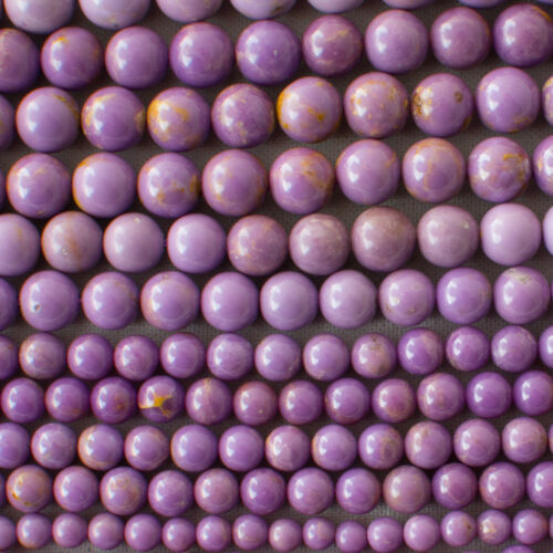 Gemstone Round Beads purple 4mm 6mm 8mm 10mm Grade A Natural Phosphosiderite