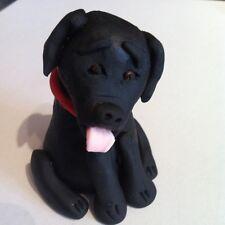 Edible Black Labrador Dog Cake Topper Decoration