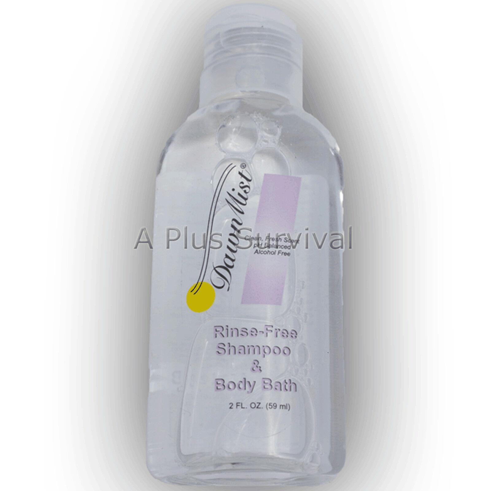 144 Bottles Dawn Mist 2  oz Rinse Free Shampoo Body Wash Homeless Shelters  cheap and fashion